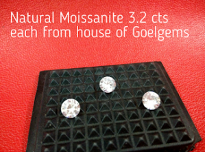 Natural Moissanite 3.2 caret